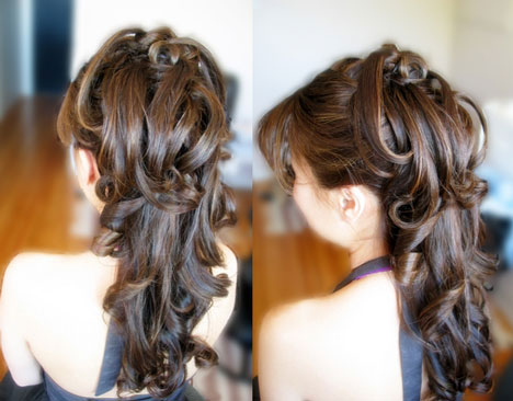 Hairstyles For Bridesmaids With Long Hair. ridesmaid hairstyles half up.