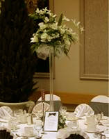 Eiffel vases wedding centrepieces