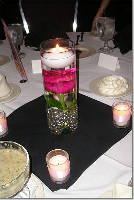 Floating flower wedding centrepieces