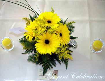 Sunflower wedding centrepiece