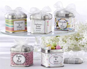 tin favour boxes, spring wedding favour boxes