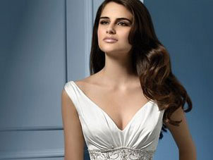 Alfred Angelo V-neck wedding dress, #767