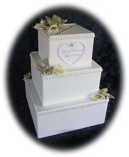cake wedding money box